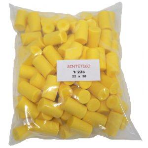 Tappo Sintetico giallo V225 - 22x38