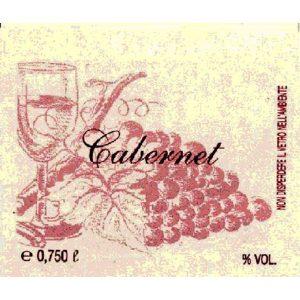 Etichetta Vino Grappolo Rosso