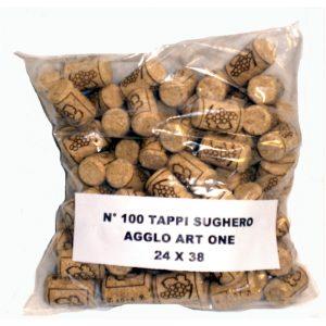 Tappo Sughero agglo art one 24x38