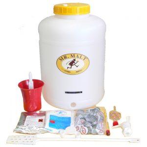 Kit per produzione birra con fermentatore in plastica da lt. 28