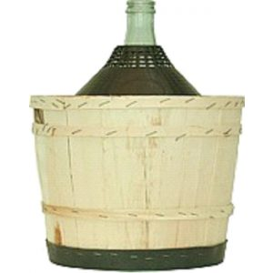Damigiana riv. legno  25 lt