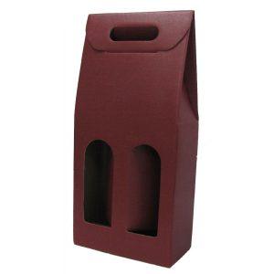 Astuccio in cartone rosso per 2 bottiglie renane bordolesi