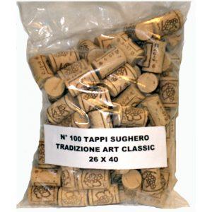 Tappo Sughero tradizionale art classic 26x40