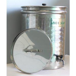 Contenitore inox con galleggiante a olio lt. 30