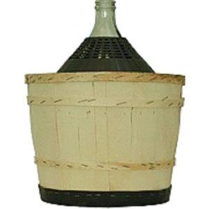 Damigiana riv. legno 34 lt