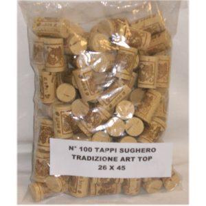Tappo Sughero tradizionale art Top 26x45